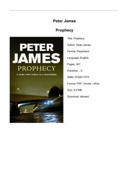 Peter James Prophecy