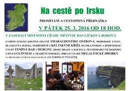 Na cestě po Irsku - Havlíčkova Borová