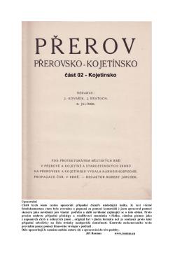 Kojetín z knihy 1933