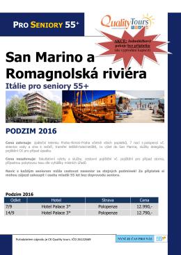 San Marino a Romagnolská riviéra