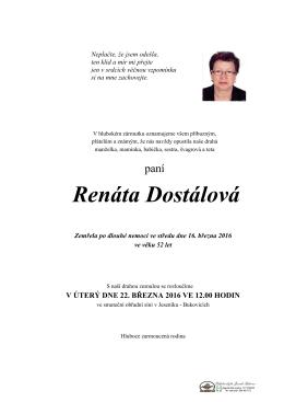Renáta Dostálová