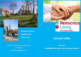 Informační leták - Nemocnice Louny