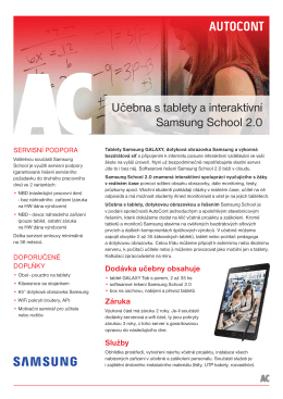 Učebna s tablety a interaktivní Samsung School 2.0