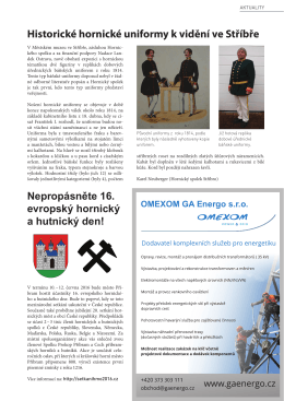Hornické uniformy, 1814 - Hornický spolek Stříbro