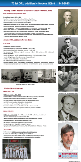 Historie oddělení - Nemocnice Nový Jičín