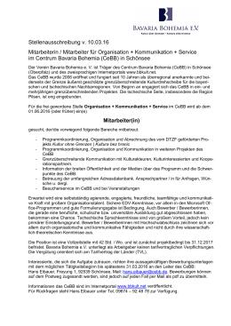 160310_Stellenausschreibung CeBB_Kommunikation