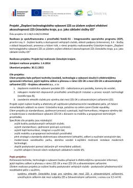 EuProjekt23 - Zdravotnická záchranná služba Ústeckého kraje