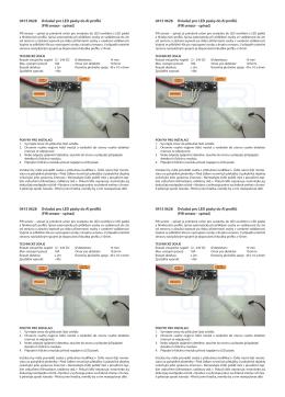 0415 0628 Ovladač pro LED pásky do Al profilů (PIR senzor