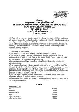 ZÁSADY oceňování majetku VS MBO návrh na Valnou hromadu