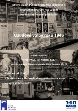 Osudové volby roku 1946 - Gymnázium Jateční Ústí nad Labem