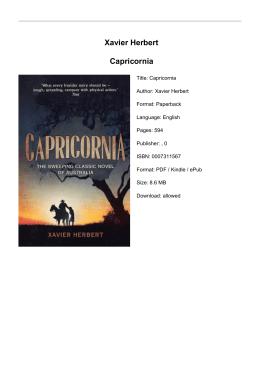 Xavier Herbert Capricornia