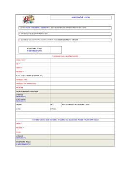 registrační lístek