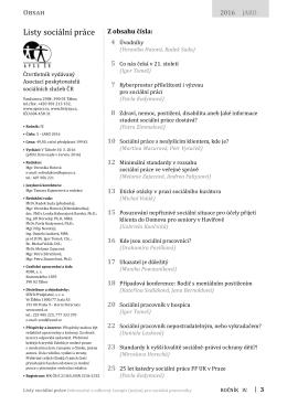 Listy soc. práce JARO 2016