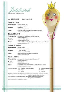 týden 29. 3. - 1. 4. 2016 - Základní škola Velké Opatovice