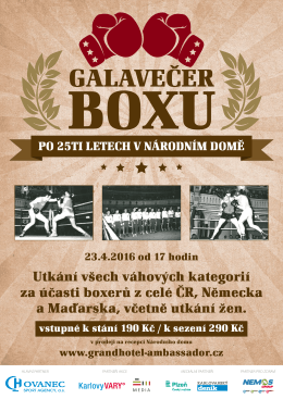 Utkání všech váhových kategorií za účasti boxerů z celé ČR