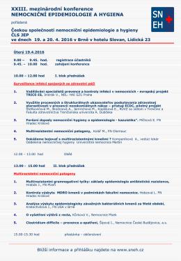 XXIII. mezinárodní konference NEMOCNIČNÍ