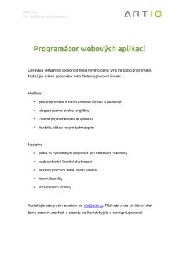 Programátor webových aplikací
