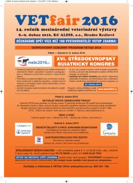 XVI. středoevropský buiatrický kongres MEBC 2016