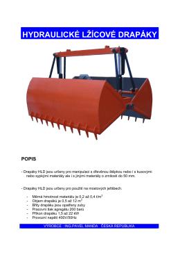 hydraulické lžícové drapáky