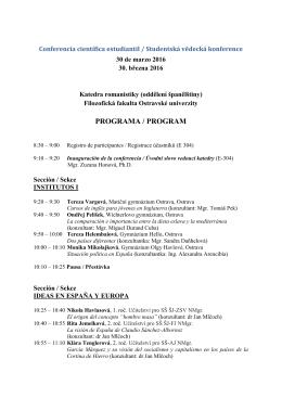 Conferencia científica estudiantil / Studentská vědecká