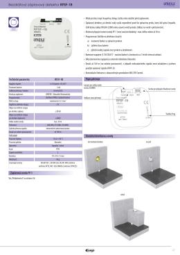 47 Bezdrátový záplavový detektor RFSF-1B