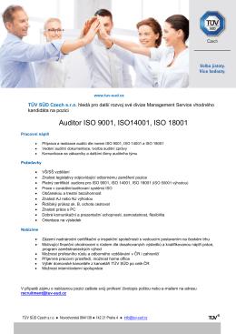 Auditora ISO 9001, ISO14001, ISO 18001