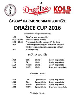 časový harmonogram soutěže dražice cup 2016
