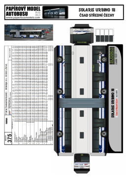 papírový model autobusu
