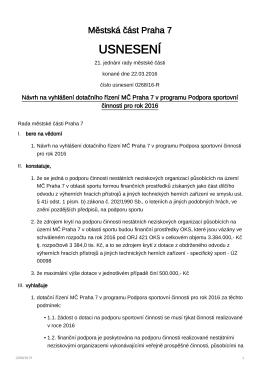 usnesení - MČ Praha 7