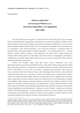 """""""Ojcowie założyciele"""" nowoczesnych Wadowic cz.1"""