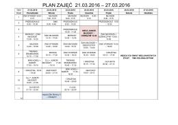 plan zajęć 21.03.2016 – 27.03.2016 - bytomski
