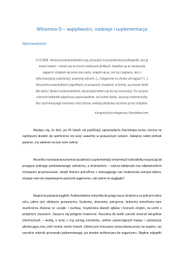 Witamina D artykuł 2016