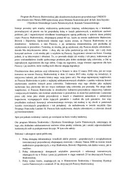 Program dla Puszczy Białowieskiej jako dziedzictwa kulturowo