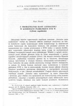 ACTA UNIVERSITATIS LODZIENSIS Piotr Pirecki Z