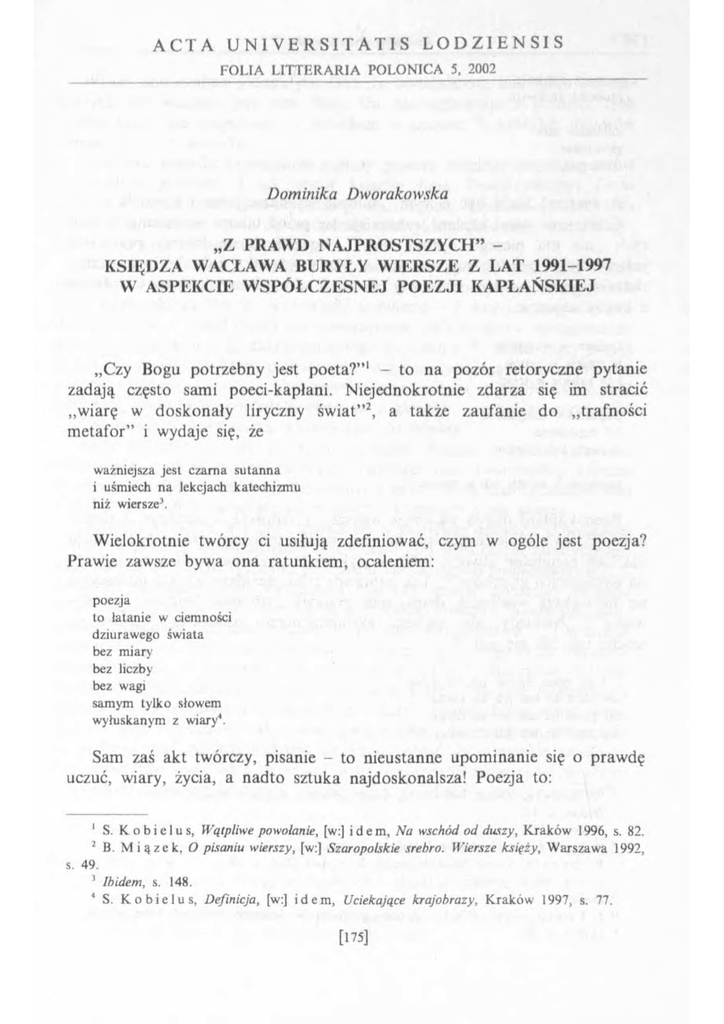 Księdza Wacława Buryły Wiersze Z Lat 1991 19