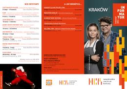 Informator Kwiecień 2016 - Nowohuckie Centrum Kultury