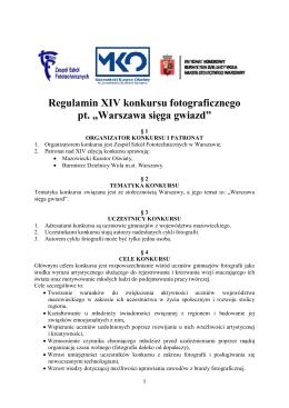 Warszawa sięga gwiazd - Zespół Szkół Fototechnicznych