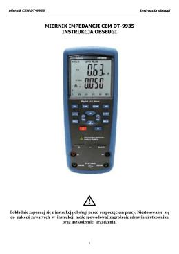 miernik impedancji cem dt-9935 instrukcja obsługi