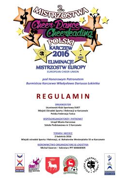 Regulamin MP_Cheer2016 - Polska Federacja Tańca