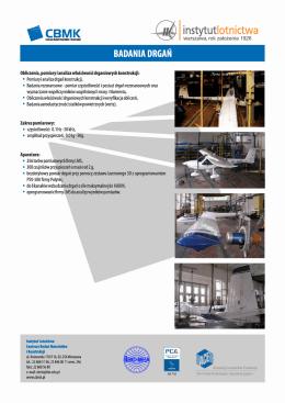 Badania drgań - CBMK — Centrum Badań Materiałów i Konstrukcji