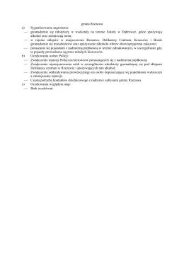 gmina Rzezawa a) Sygnalizowanie zagrożenia: