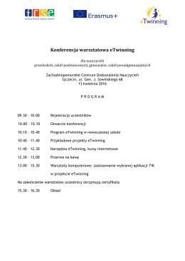 Konferencja warsztatowa eTwinning