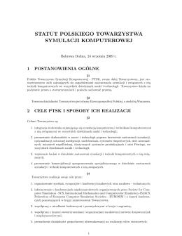 Statut - PTSK