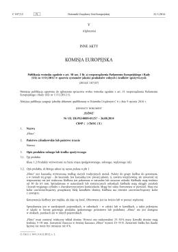 (UE) nr 1151/2012 w sprawie