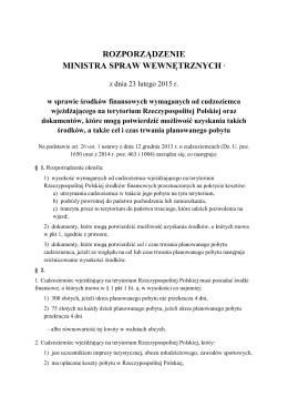 rozporządzenie ministra spraw wewnętrznych 1