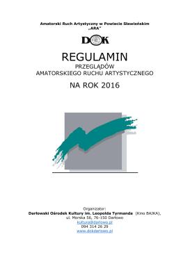 REGULAMIN - Darłowski Ośrodek Kultury