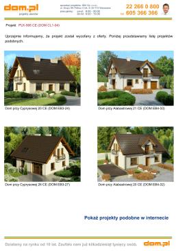 Projekt domu: PLK