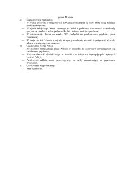 gmina Drwinia a) Sygnalizowane zagrożenia: