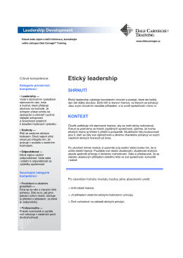 1016 Etický leadership
