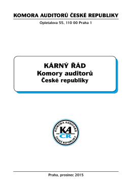 Kárný řád Komory auditorů - Komora auditorů České republiky